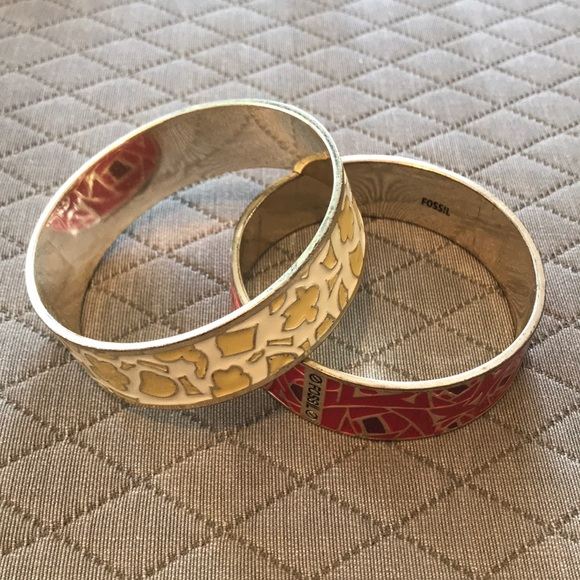 b6fd58356de Fossil Jewelry | Thick Bangle Bracelets | Poshmark